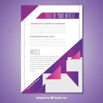 Szablon broszury o kolorowej geometrii