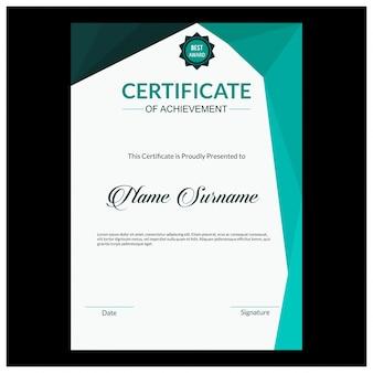 Szablon certyfikatu z luksusowym i nowoczesnym wzorem, dyplom, ilustracji wektorowych