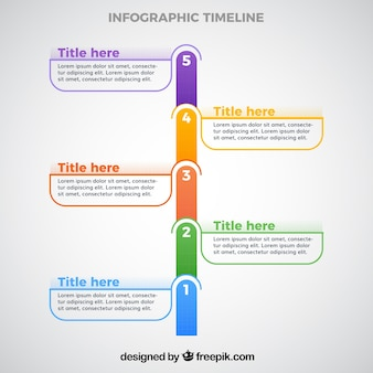Szablon czasu infografiki
