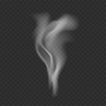 Szablon dymu na przezroczystym tle