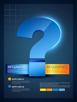 Szablon infograficzny znaku zapytania
