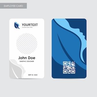 Szablon karty pracownika rocznego, projekt niebieski okładki, spa, reklama, reklamy w czasopismach, katalog