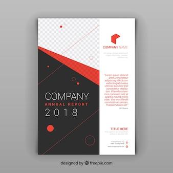 Szablon korporacyjnej broszury abstrakcyjnej 2018