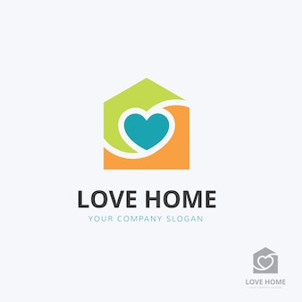 Szablon logo opieki domowej.