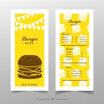 Szablon menu Burger