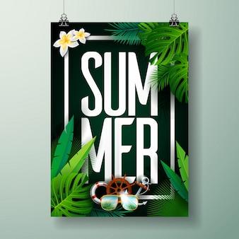 Szablon plakatu z letniej imprezy