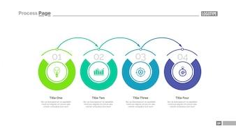Szablon slajdu wykresu procesu
