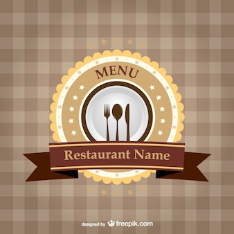 Szablon wstążka restauracja marki