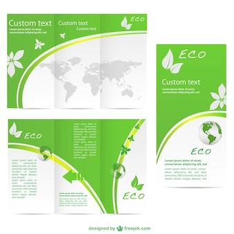 Szablon zielony brochurevector darmo