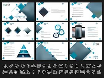 Szablony prezentacji twórczej dla raportów biznesowych i prezentacji. Może być używany jako broszura, ulotka, projekt okładki.