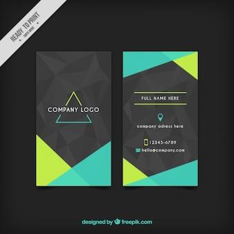 Szary korporacyjnych kart z zielonym abstrakcyjnych kształtów