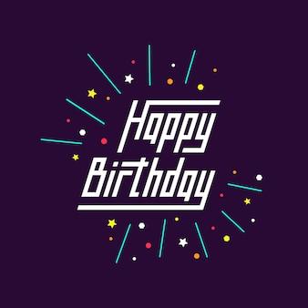 Szczęśliwe tło urodzinowe