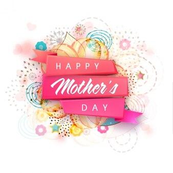Szczęśliwego dnia matki z abstrakcyjnym tle