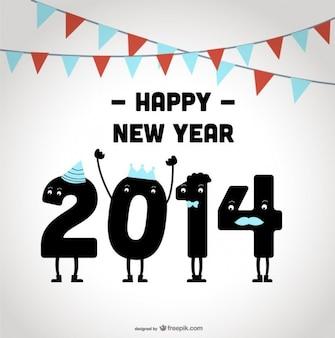 Szczęśliwego nowego roku 2014 z okazji projektowania