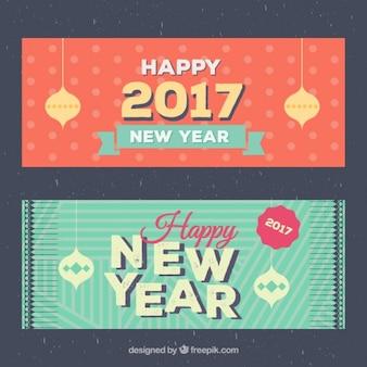 Szczęśliwego Nowego Roku 2016 Banner Paczka