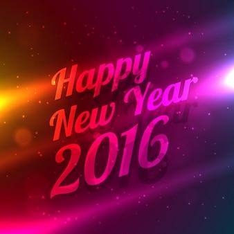 Szczęśliwego nowego roku 2016 w tle