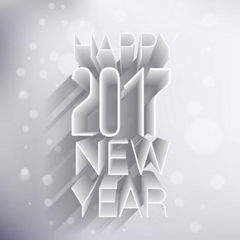 Szczęśliwego nowego roku 2017 3d wzór w jasnych kolorach