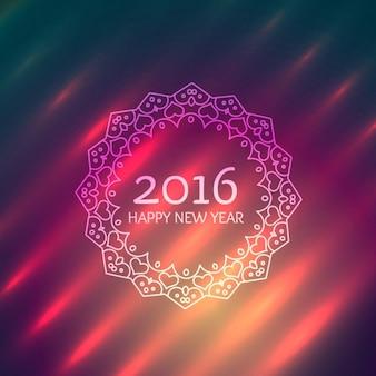 Szczęśliwego nowego roku w ozdobnych projekt ramy