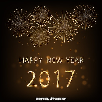 Szczęśliwego Nowego Yeark 2017 Fajerwerki Kontekst