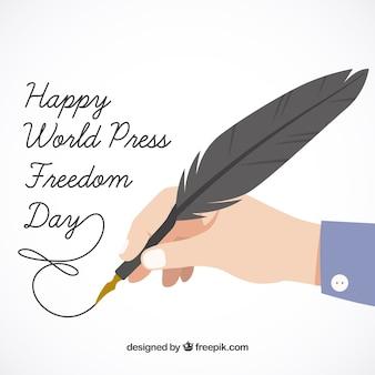 Szczęśliwy świat wolności prasy dni tło
