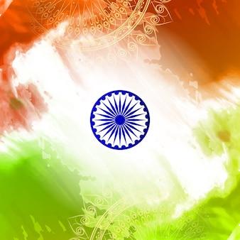 Szczęśliwy dzień Niepodległości indyjskim tle projektu bandery