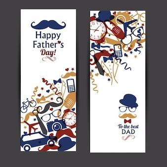 Szczęśliwy dzień ojcowie banner set