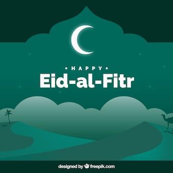 Szczęśliwy eid al jodła tła