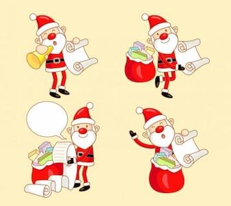 szczęśliwy Santa Claus ilustracji wektorowych