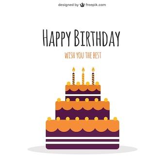 Szczęśliwy tort urodzinowy
