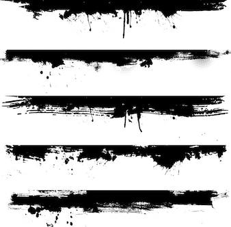 Szczegółowe elementy grunge idealne do stosowania jako granic