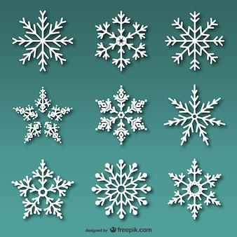 Sztuk białe płatki śniegu