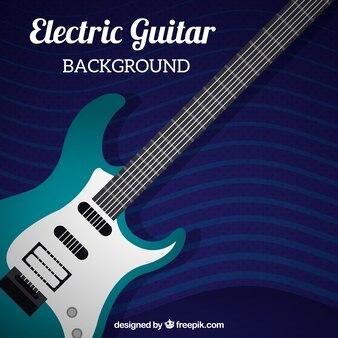 Tła gitara elektryczna w płaskim stylu