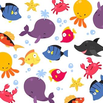 Tła wzorca ryb
