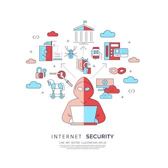 Tło bezpieczeństwa internetowego