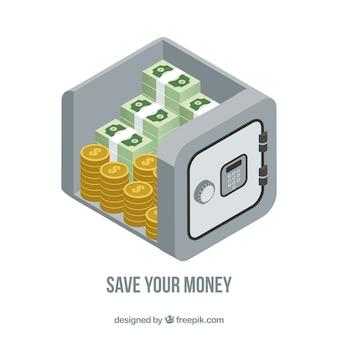 Tło bezpieczne z monet i banknotów