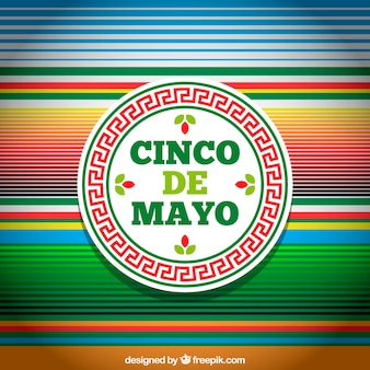 Tło Cinco de mayo z wielokolorowymi pasami