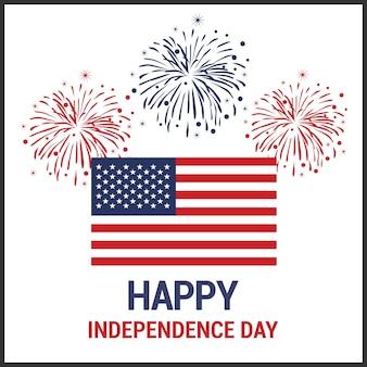 Tło dzień niepodległości i logo znaczek z flagą USA
