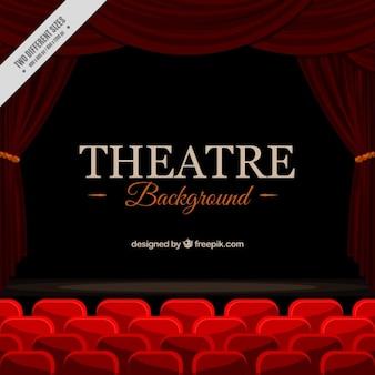 Tło elegancki teatru z czerwonymi siedzeniami
