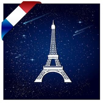 Tło Francji z Wieży Eiffla