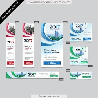 Tło miasta Corporate Banner Web szablonu w wielu rozmiarach