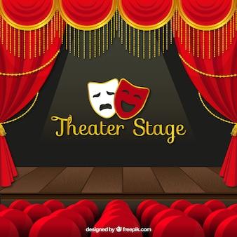 Tło sceny teatralnej