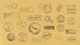 Tło wektor znaczków pocztowych