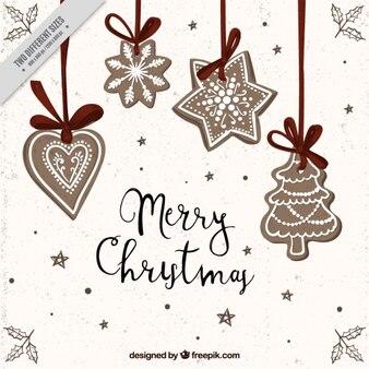 Tło wyciągnąć rękę Boże Narodzenie ozdoby