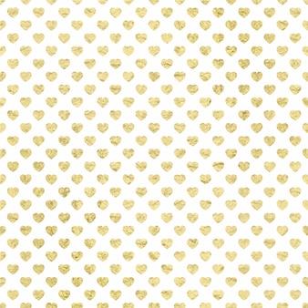 Tło złote serc wzór