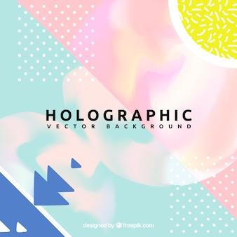 Tło z abstrakcyjnymi kształtami i efektem holograficznym