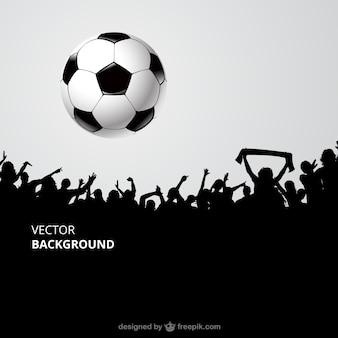Tłum kibiców piłki nożnej