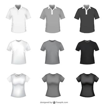 T-shirt szablony za darmo wektor