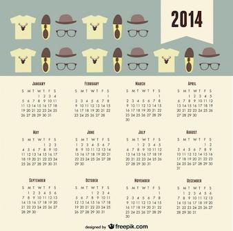 Tendencja 2014 kalendarz spojrzenie hipster mody