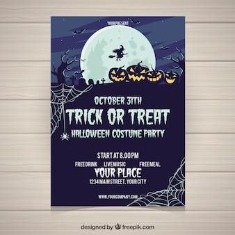 Tenebrous halloween plakat imprezy