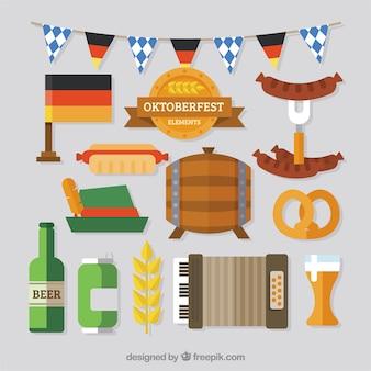 Tradycyjne uzupełnienia świętują oktoberfest